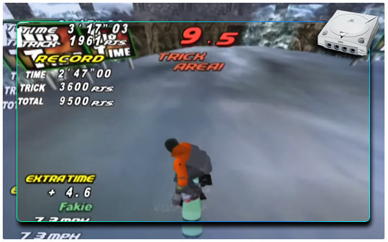 snow surfers dreamcast snowboard